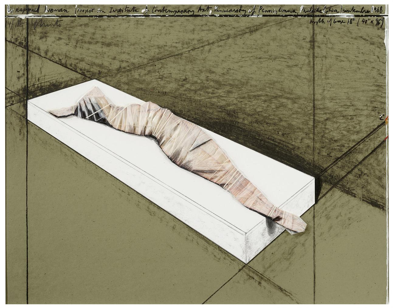 Christo and Jeanne-Claude-Wrapped Woman, Project For The Institute Of Contemporary Art, Philadelphia-1997