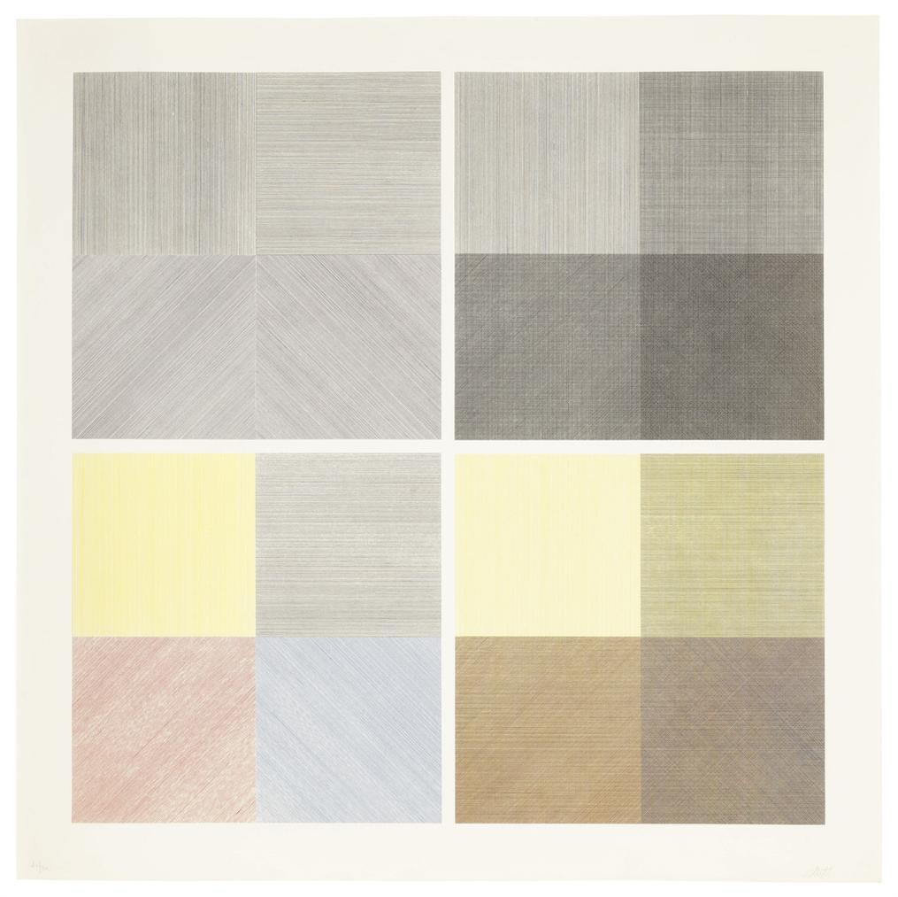 Sol LeWitt-Four Square Composite-1971