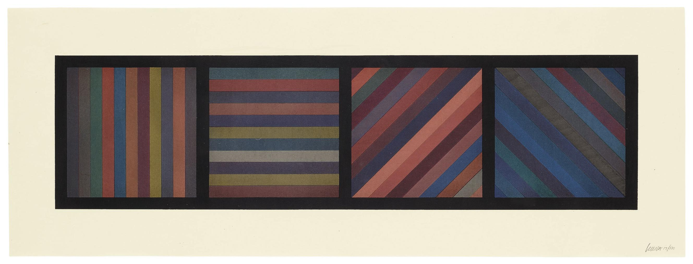 Sol LeWitt-Bands Of Lines In Four Directions-1993