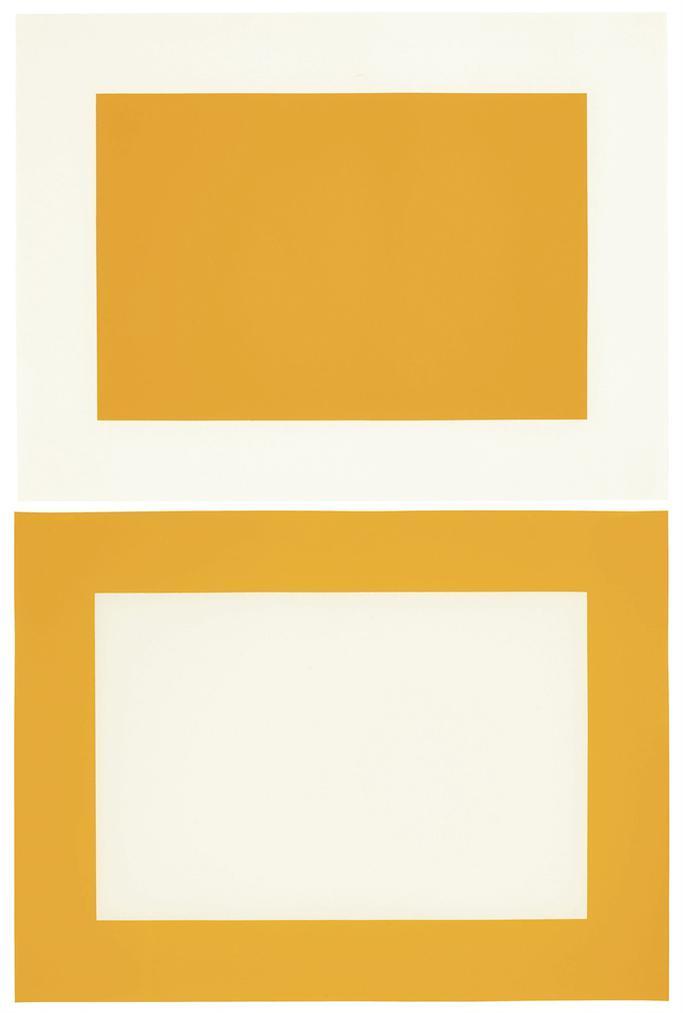 Donald Judd-Untitled: Two Woodcuts-1990