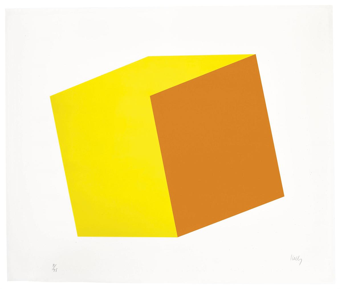 Ellsworth Kelly-Yellow/Orange, From Series Of Ten Lithographs-1970