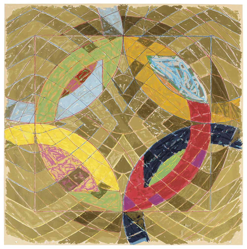 Frank Stella-Polar Co-Ordinates Vi, From Polar Co-Ordinates For Ronnie Peterson-1980