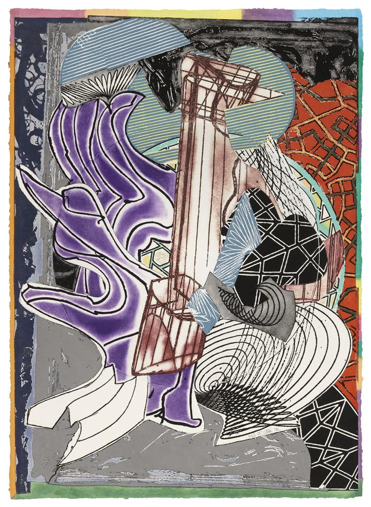 Frank Stella-The Fossil Whale (Dome)-1992