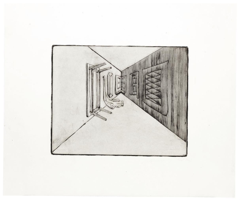 Richard Artschwager-Table, Window, Mirror, Door, Rug, Basket-1979