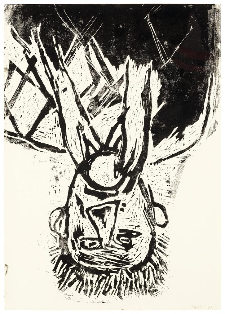 Georg Baselitz-Orangenesser-1981