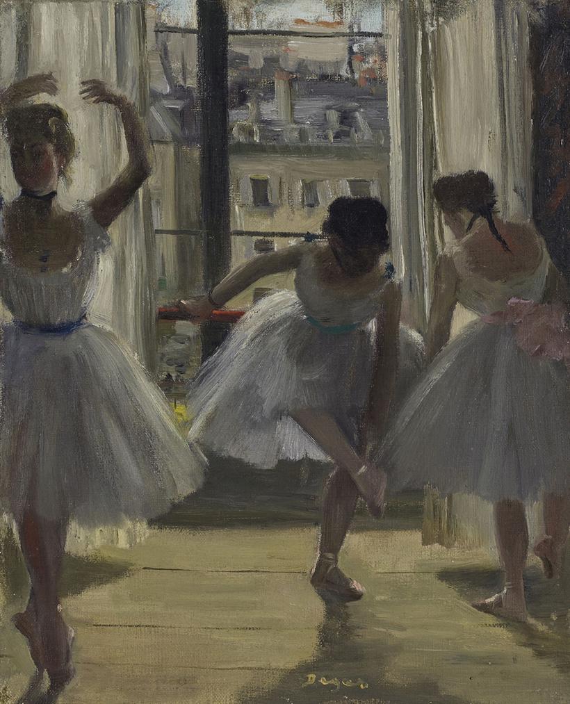 Edgar Degas-Danseuses Dans Une Salle Dexercice (Trois Danseuses)-1873