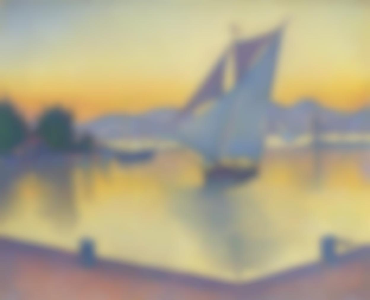 Paul Signac-Le Port Au Soleil Couchant, Opus 236 (Saint-Tropez)-1892