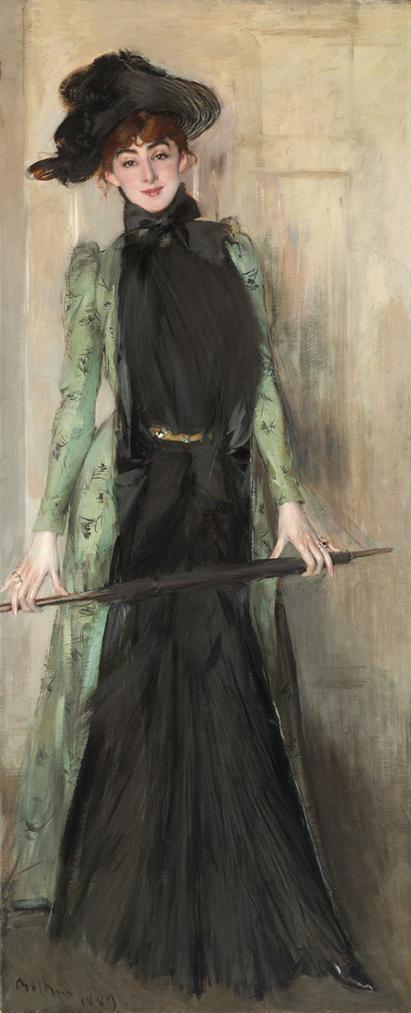 Giovanni Boldini - Portrait Of Madame Roger-Jourdain-1889