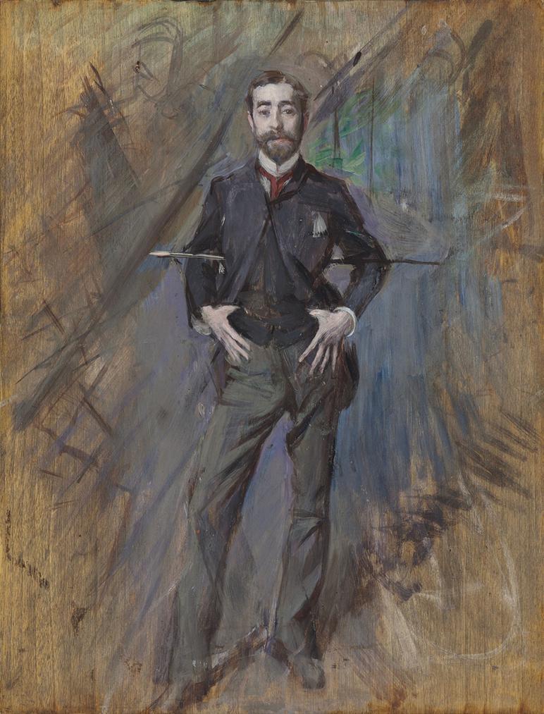 Giovanni Boldini - Portrait Of John Singer Sargent-1890