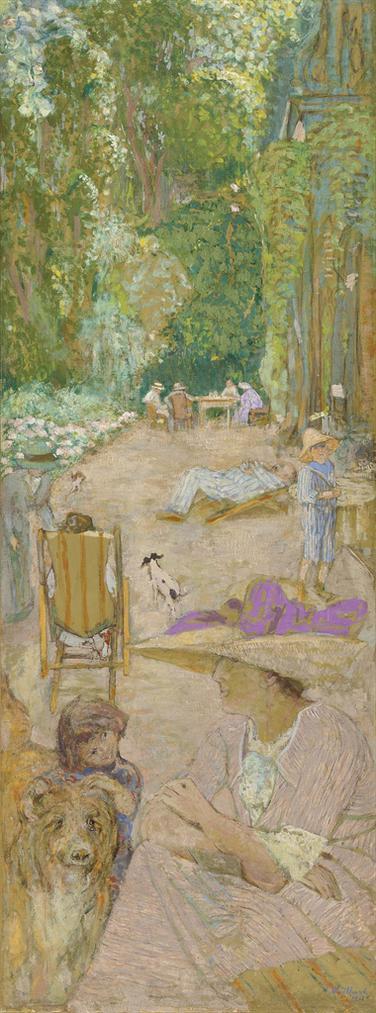 Edouard Vuillard-Aux Pavillons A Cricqueboeuf. Devant La Maison-1911