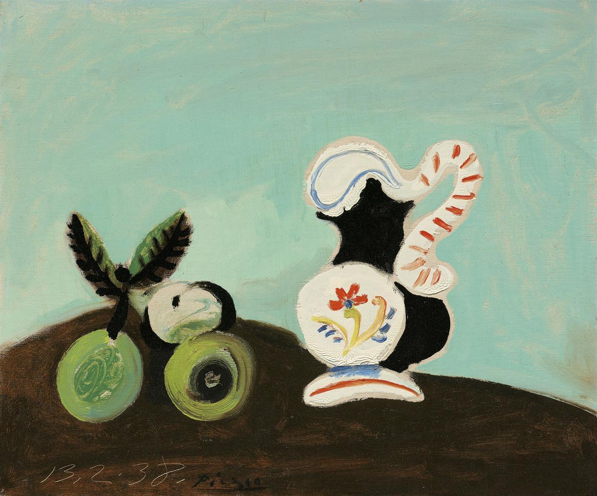 Pablo Picasso-Nature Morte, Fruits Et Pot-1938