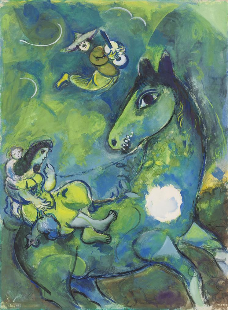 Marc Chagall-Le Cheval A La Lune-1943