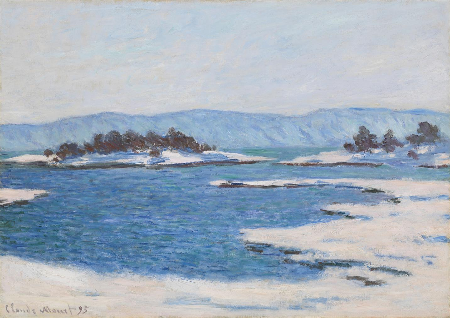 Claude Monet-Au Bord Du Fjord De Christiania-1895