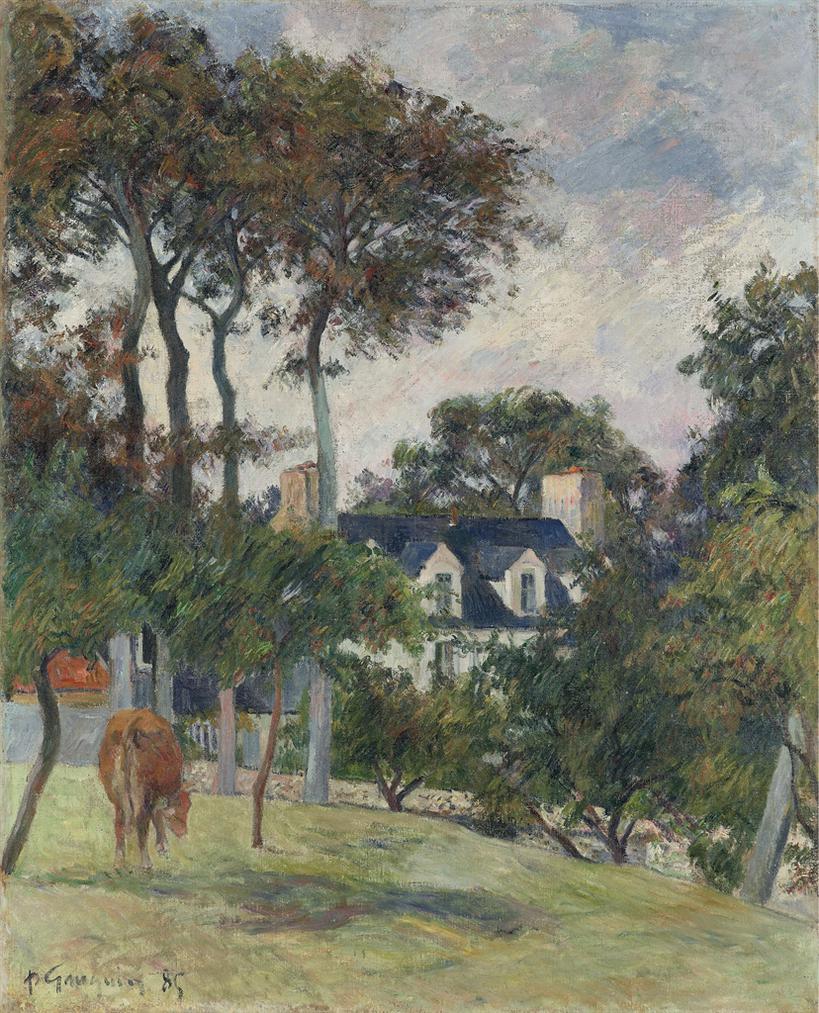 Paul Gauguin-La Maison Blanche-1885