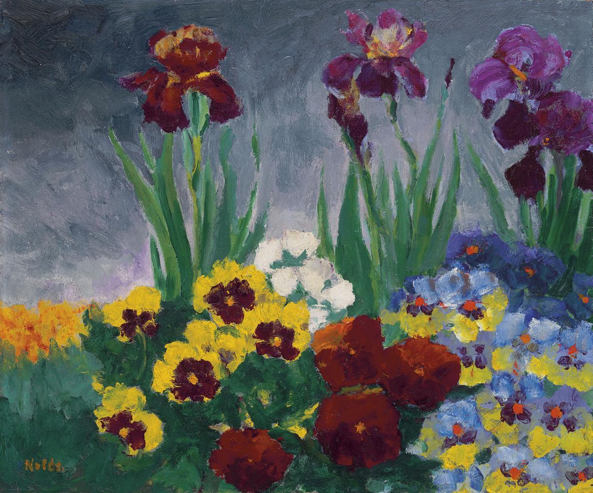 Emil Nolde-Iris Und Stiefmutterchen-1929