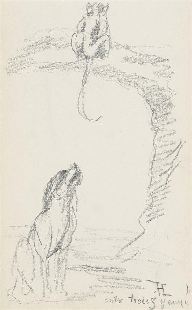 Henri de Toulouse-Lautrec-Entre Trois Zyeux-1880