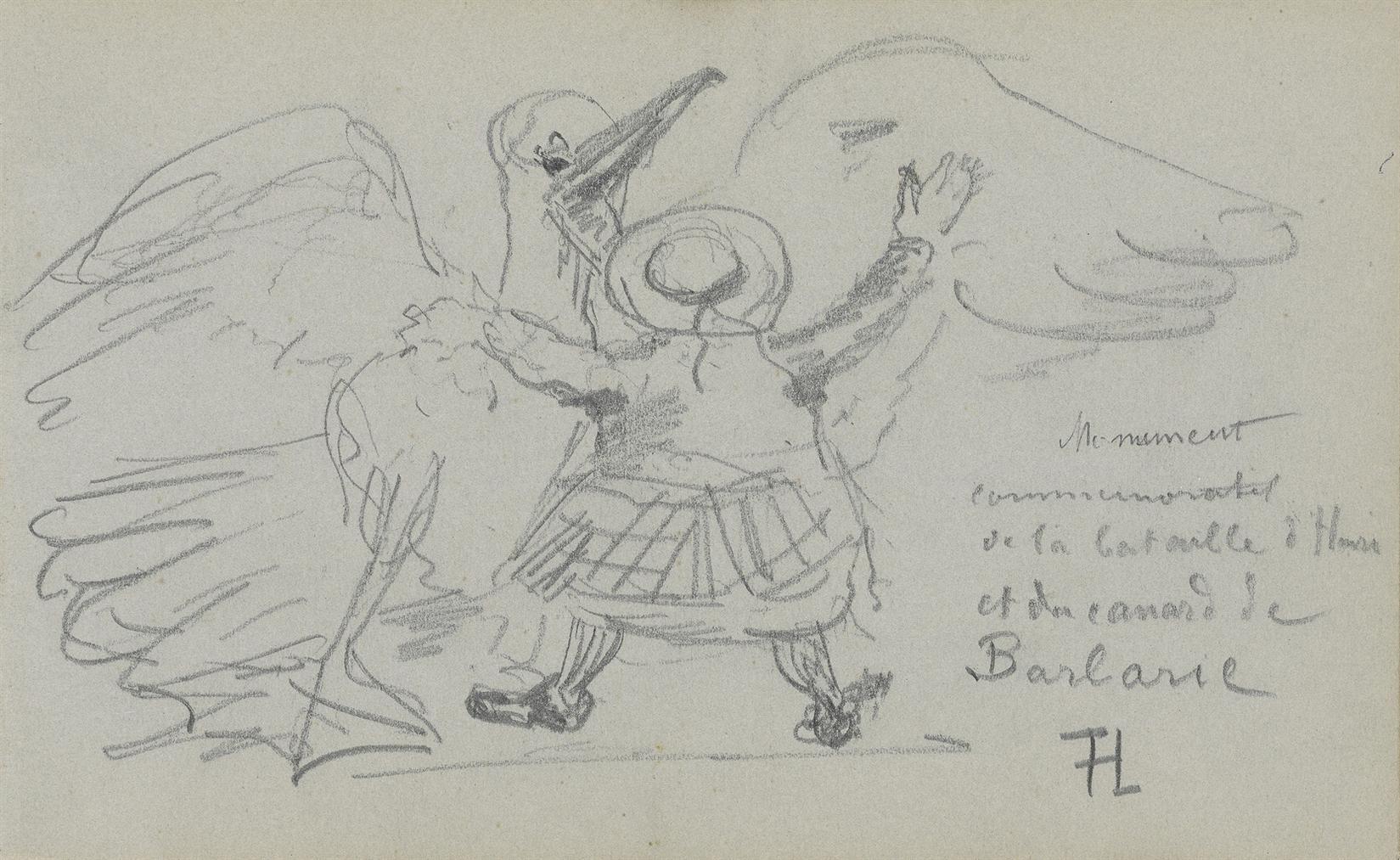 Henri de Toulouse-Lautrec-Canard De Barbarie-1880