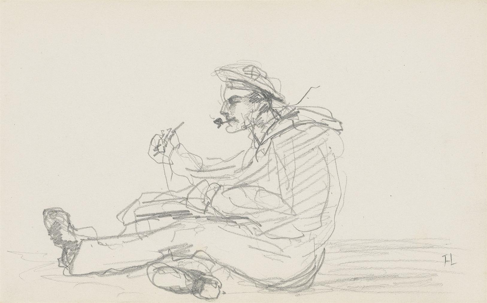 Henri de Toulouse-Lautrec-Marin Ecrivant-1880