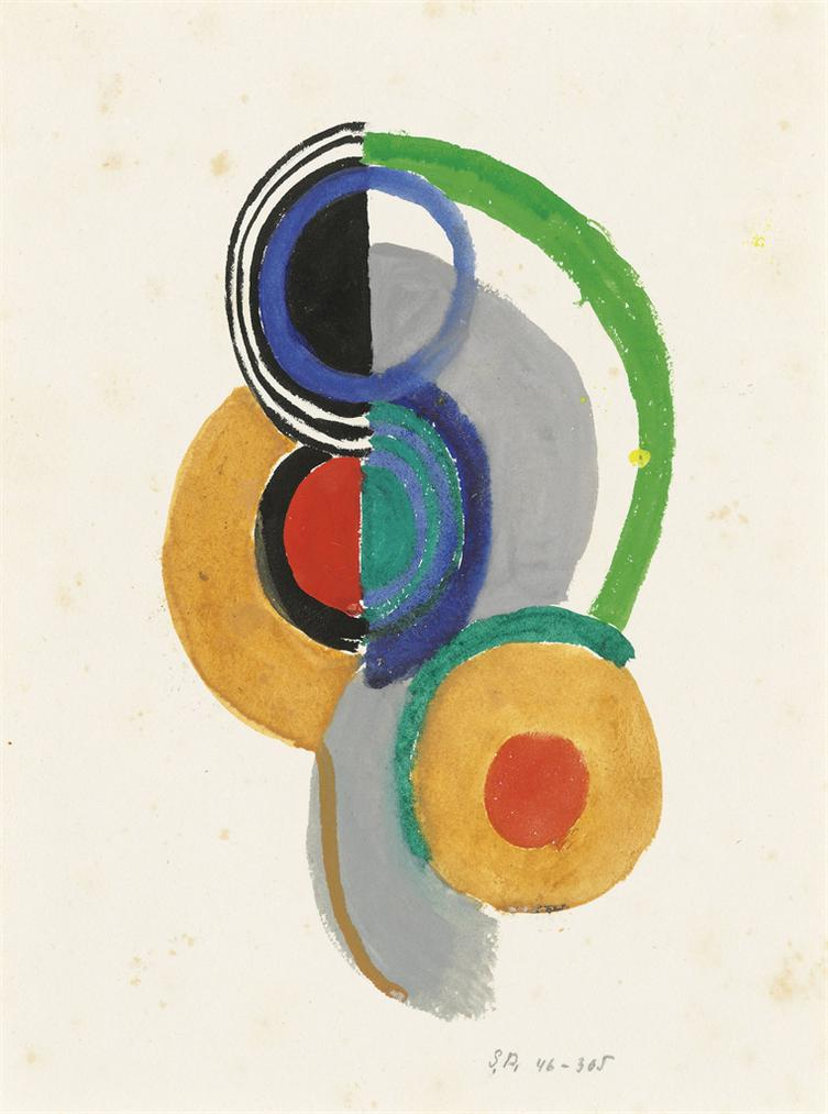 Sonia Delaunay-Rythme Colore-1946