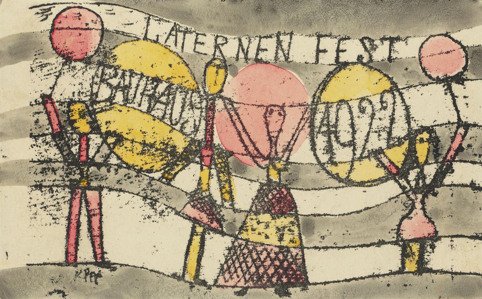Paul Klee-Laternenfest Bauhaus (Bauhaus Lanterns Festival)-1922