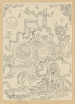 Paul Klee-Legende - Gedenkblatt Mit D. Heil Stier (Legend - Memorial Page With Holy Bull)-1917