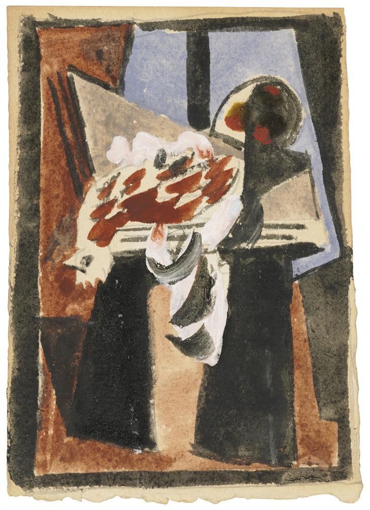 Pablo Picasso-Coq Sur Le Piano Devant La Fenetre-1920
