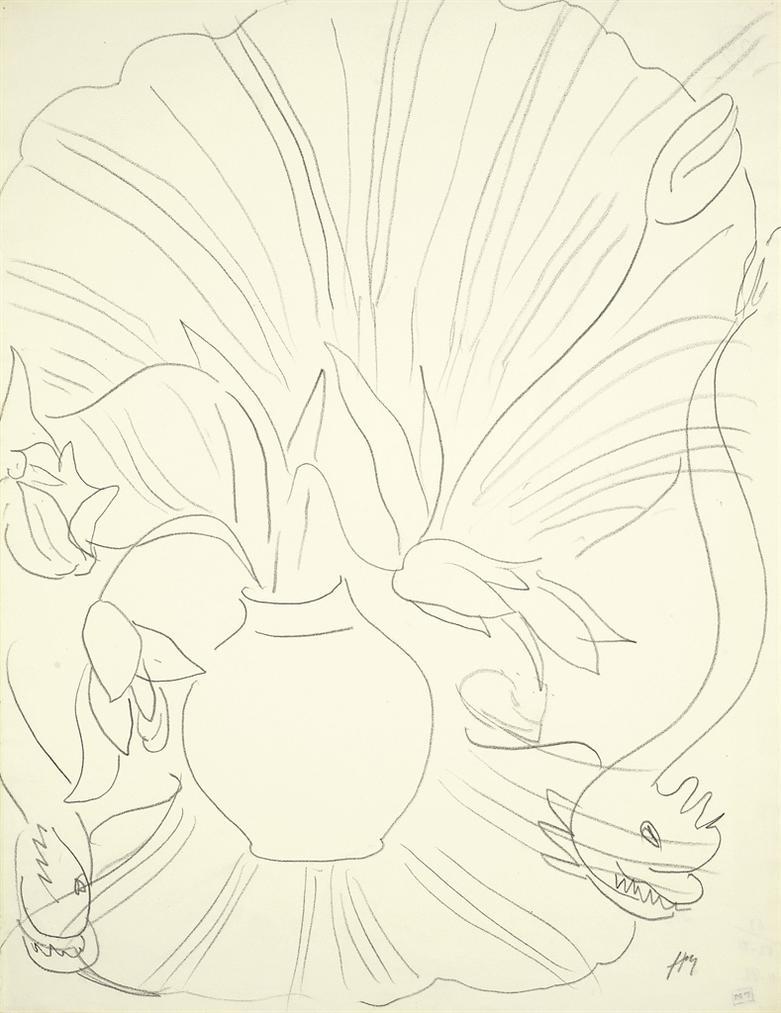 Henri Matisse-Vase De Fleurs Sur Fauteuil Rocaille-1943