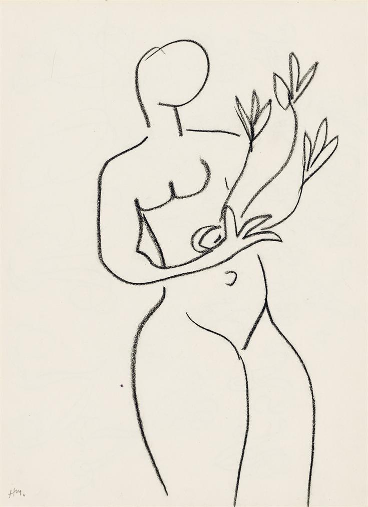 Henri Matisse-Nu Aux Fleurs-1952