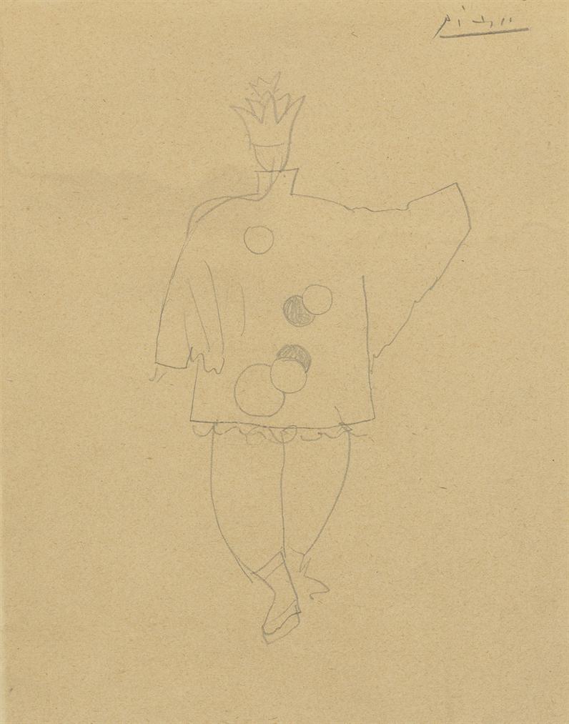 Pablo Picasso-Etude De Costume Pour Le Magicien Chinois Dans Le Ballet Parade, Etude Pour Le Dos Du Costume-1917