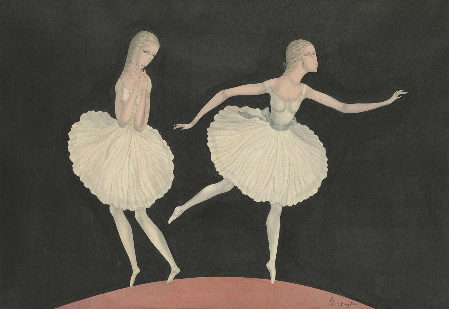 Tsuguharu Foujita-Les Danseuses-1920