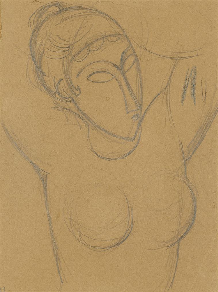 Amedeo Modigliani-Buste De Cariatide-1914