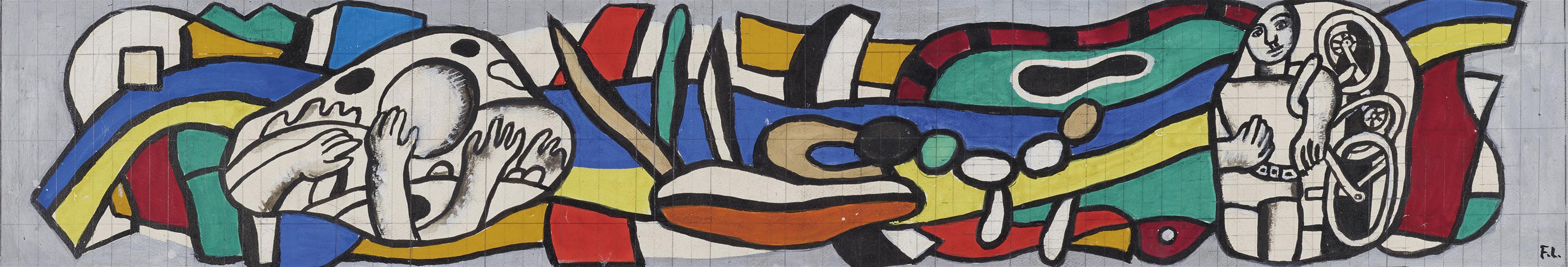 Fernand Leger-Maquette Pour La Facade Du Musee De Biot-1954