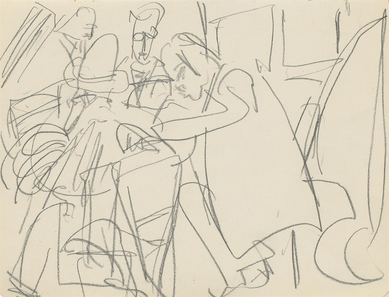 Ernst Ludwig Kirchner-Im Cafehaus-1916
