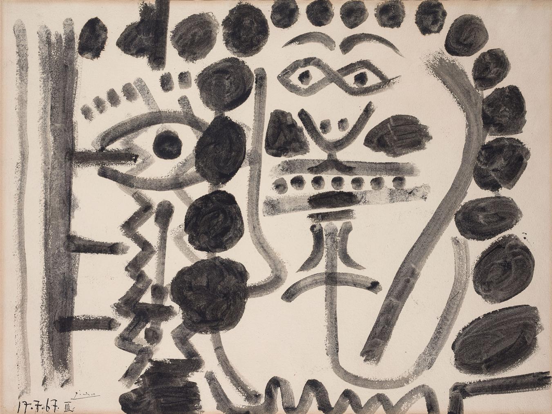Pablo Picasso-Tete-1967