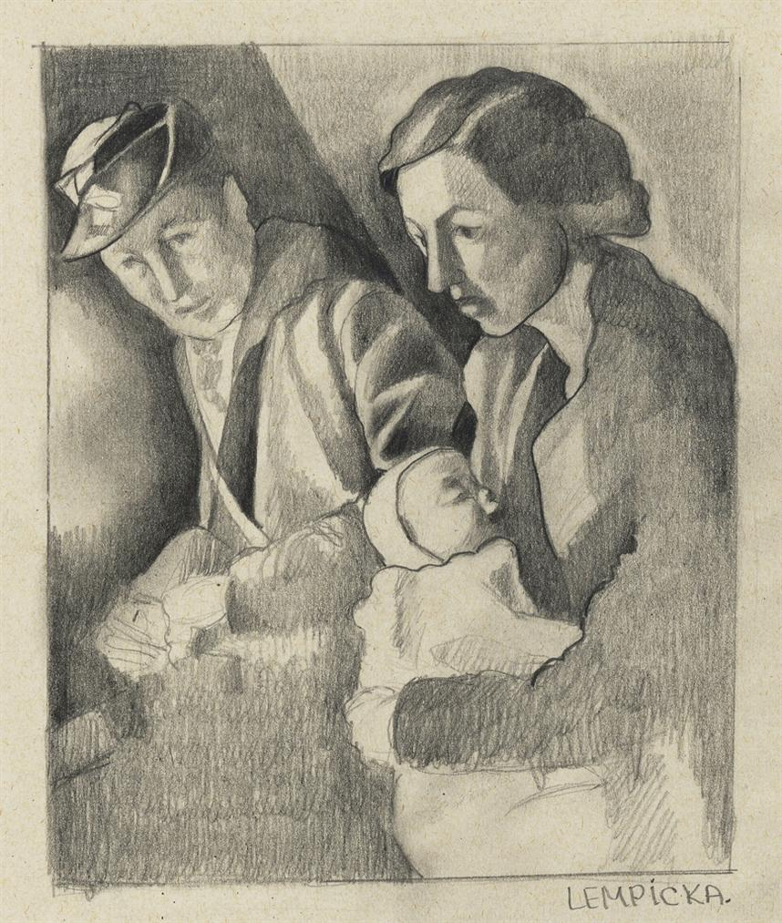 Tamara de Lempicka-Groupe Familial-1940