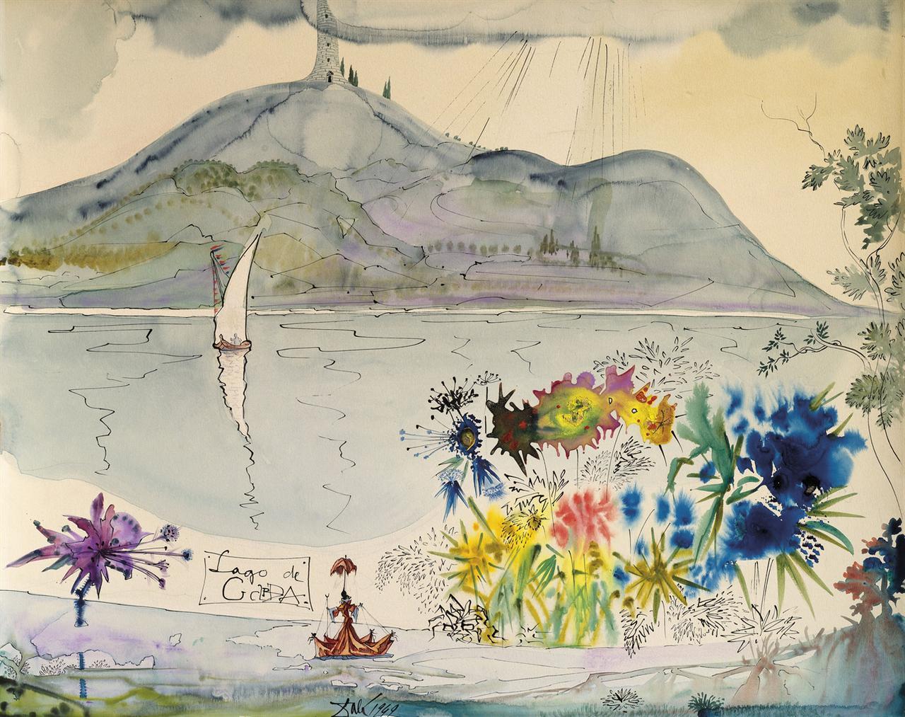 Salvador Dali-Lago De Garda-1949