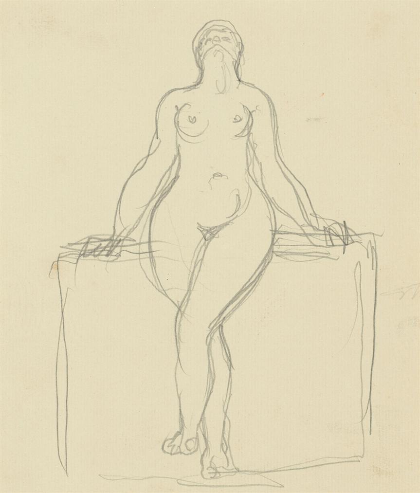 Rene Magritte-Sans Titre (Recto; Verso)-