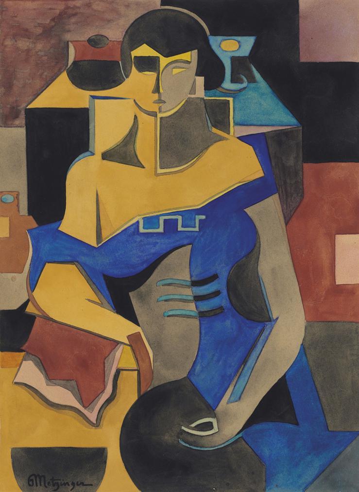 Jean Metzinger-Etude Pour La Femme En Bleu-1920