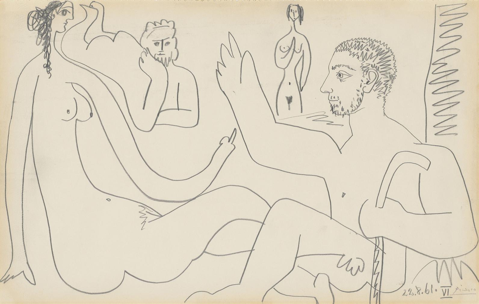 Pablo Picasso-Les Dejeuners-1961