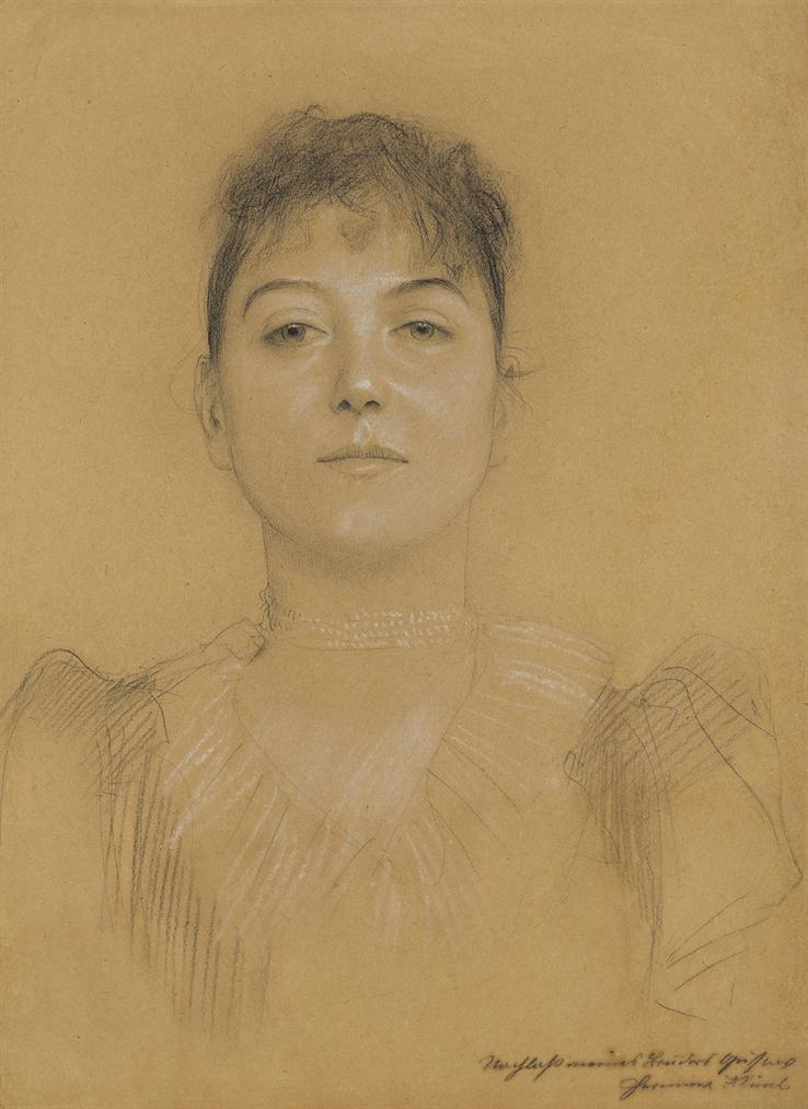 Gustav Klimt-Portrat Einer Frau-1891