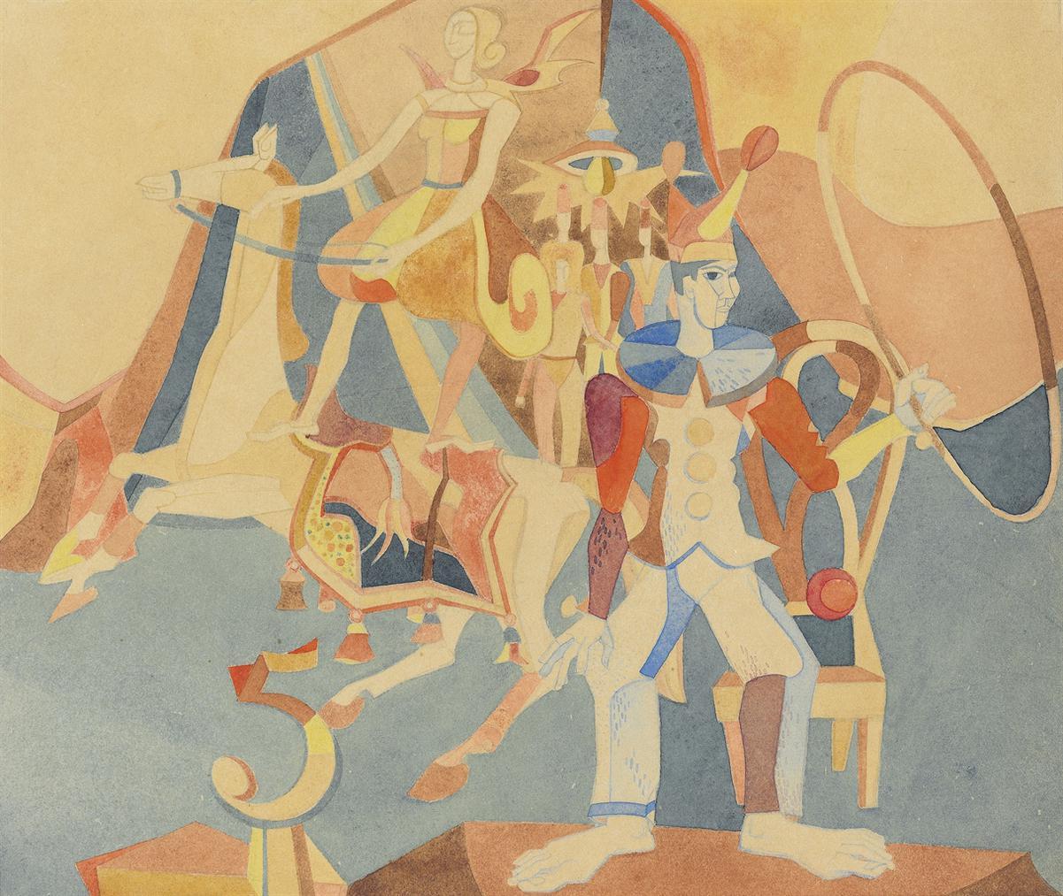 Heinrich Campendonk-Zirkus Mit Reiterin-1946