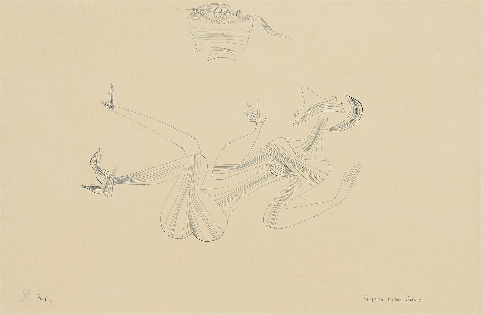 Paul Klee-Traum Einer Dame (Dream Of A Lady)-1928