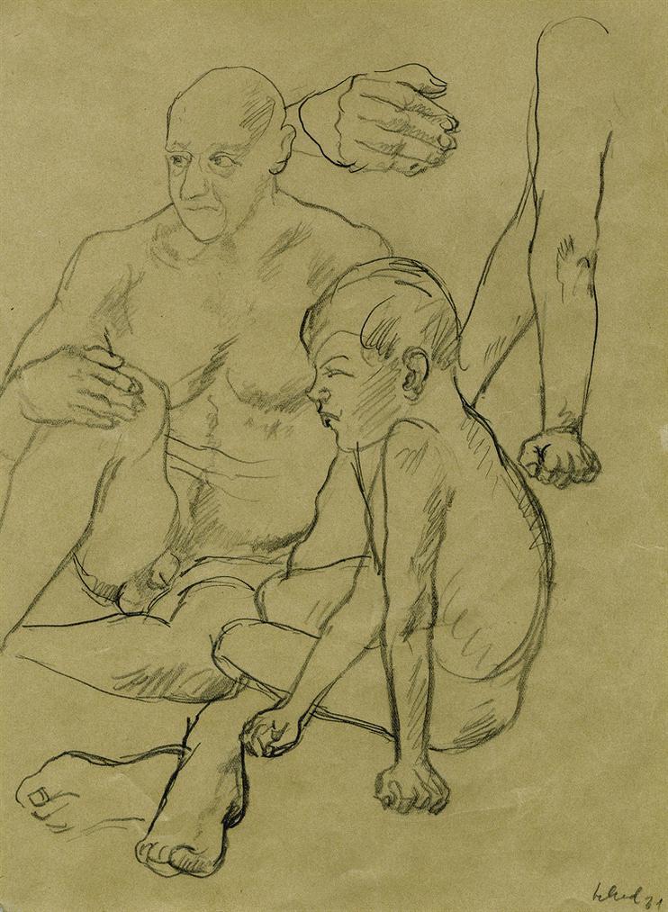 Christian Schad-Mann Mit Junge (Man With Boy)-1931