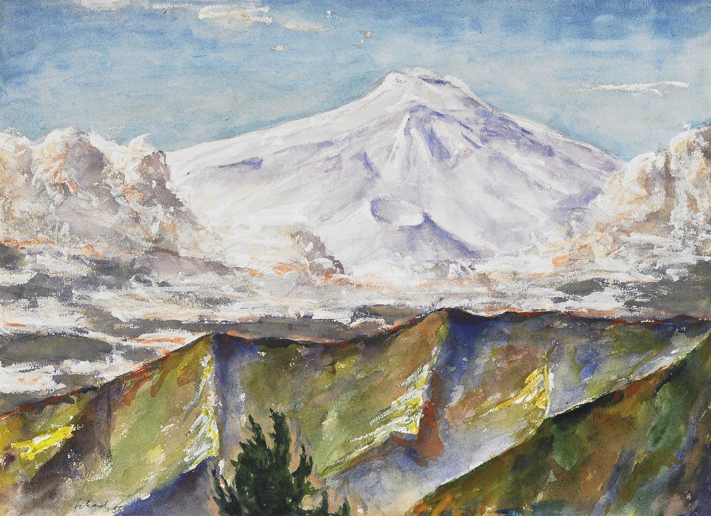 Christian Schad-Aufziehender Sturm Am Atna (Upcoming Storm At Mount Etna)-1956
