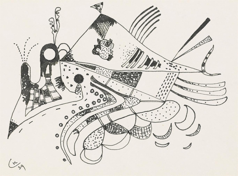 Wassily Kandinsky-Zeichnung Zur Voisinage (Drawing For Neighborhood)-1939