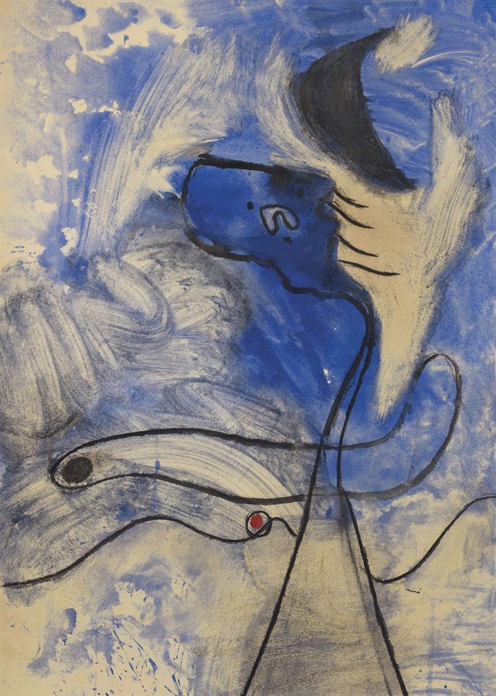 Joan Miro-Le Poete Inspire-1937