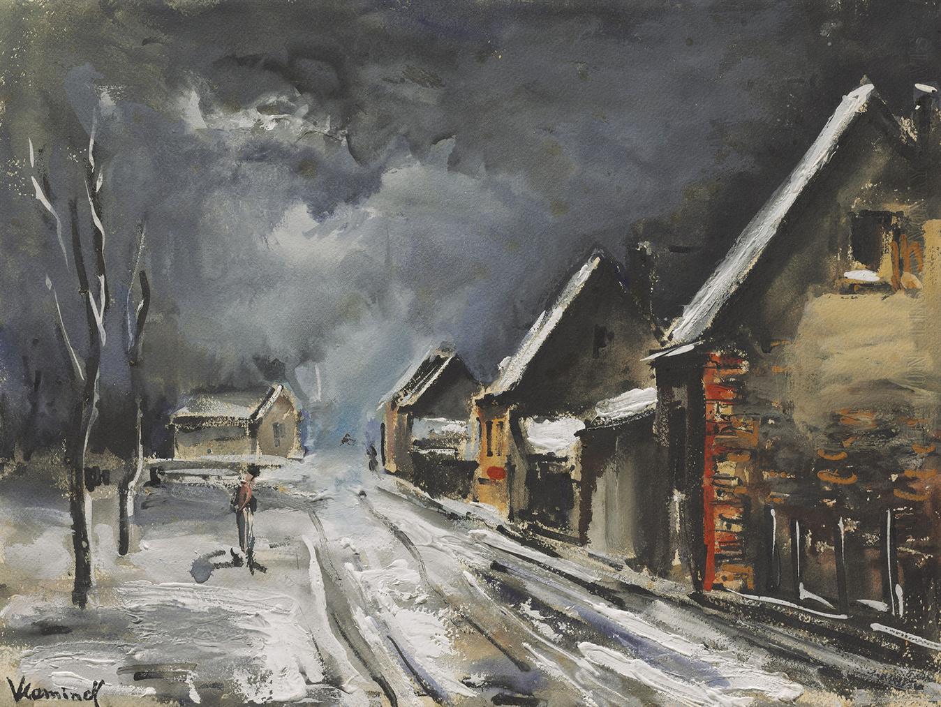 Maurice de Vlaminck-Rue Enneigee-