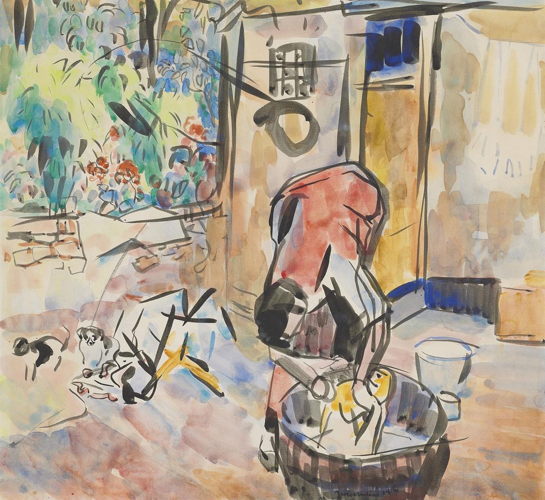 Rik Wouters-Le Bain Des Chiens-1914