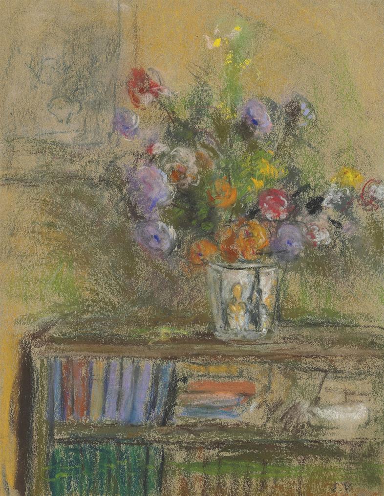 Edouard Vuillard-Nature Morte Au Vase De Fleurs-1932