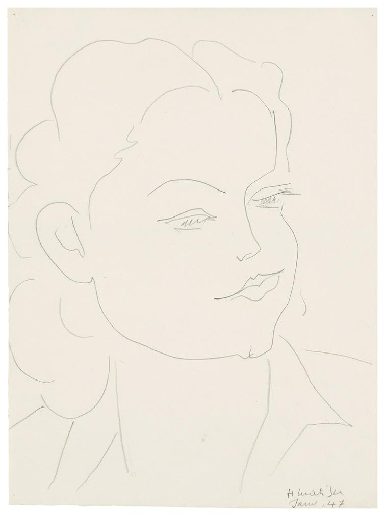 Henri Matisse-Portrait De Femme-1947